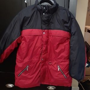 Fubu Down Red & Black Parka Coat L